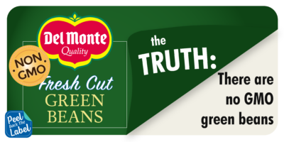 Del Monte Green Beans - Peel Back The Label
